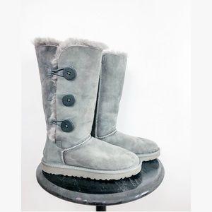 UGG Australia tall grey bailey button boots 7